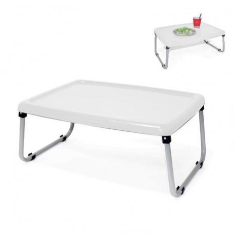 Bandeja cama plegabre blanca -54x42x24cm|Plegada: 54x42