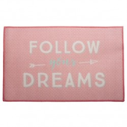 "Alfombra multiuso original ""FOLLOW YOUR DREAMS"" 50x80 cm"