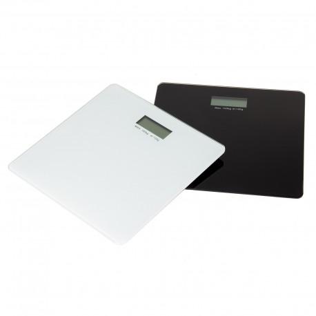 Báscula de baño 2/c cristal 30 x 30 x 1,70 cm blanco y negro
