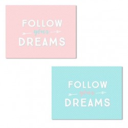 "Pack de 2 lienzo decorativo ""FOLLOW"" 30X40 2m"