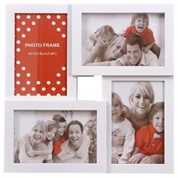Portafotos múltiple moderno blanco para 4 fotos