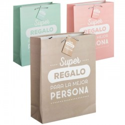 Pack 3 Bolsas papel XL super regalo