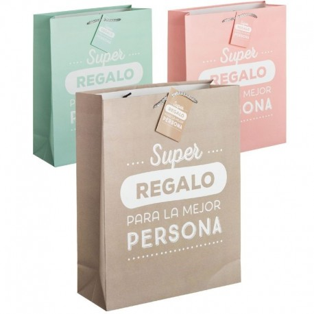 6cbdad248 Pack 3 Bolsas papel XL super regalo | Dcasa.es