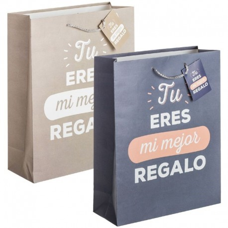 Pack 2 Bolsas papel XL Mi mejor regalo