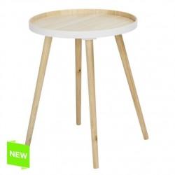 Mesa madera centro bicolor 40x40x56 cm