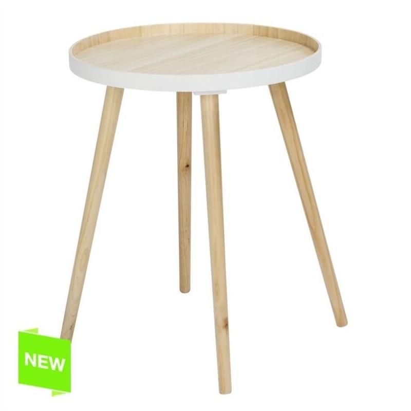 Mesa madera centro bicolor 40x40x56 cm for Mesa centro plegable