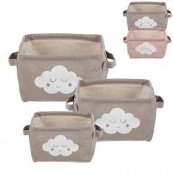 Juego de 3 cestas diseño infantil nubes .