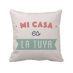 """Cojín """"Mi casa es la tuya"""" Multicolor - 45*45 cm"""
