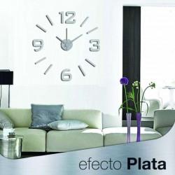 Reloj de Pared 3D Adhesivos DIY Moderno Decoración Adorno para Hogar Habitación