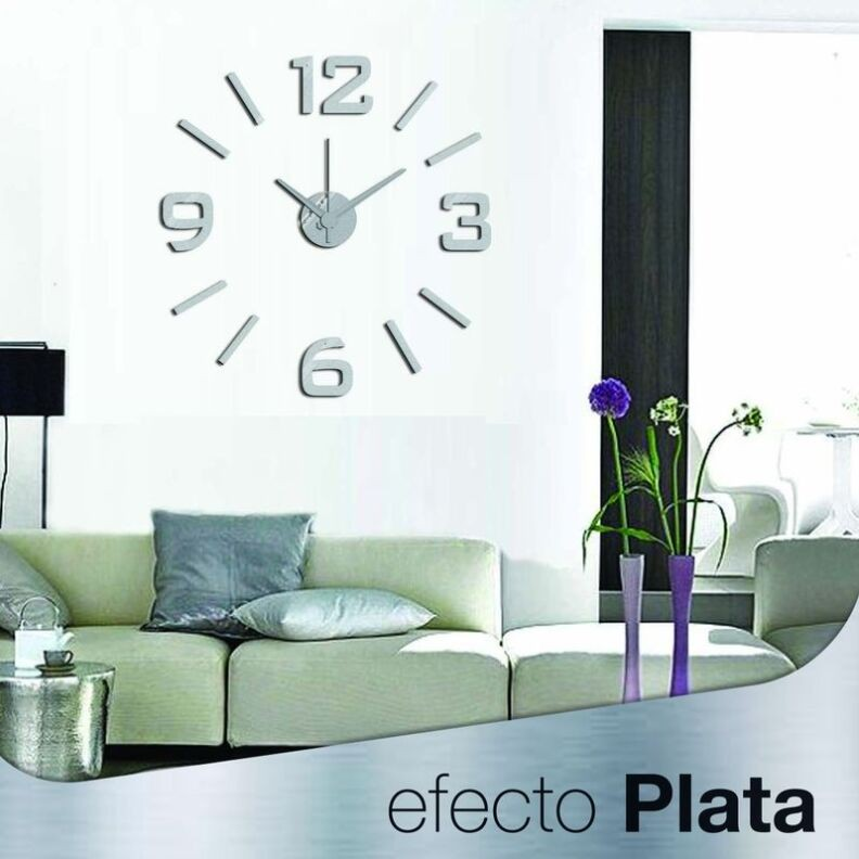 DIY relojes de pared modernos negro Decoraci/ón del hogar Pegatinas