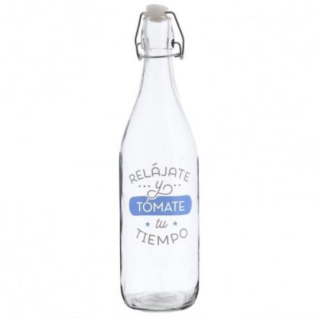 Botella cristal de agua 1l rel jate y tomate tu tiempo for Botellas de cristal ikea