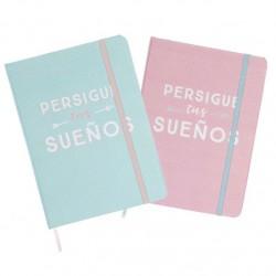 """Libreta moleskin frases original """"Persique tus sueños""""- Pack 2 ud."""