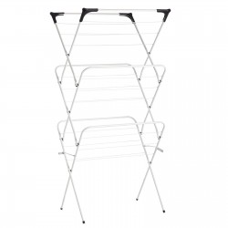 Tendedero plegable blanco metal 63 x 51 x 135 cm .