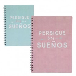 "Libretas A4 frases original ""FOLLOW""- Pack 2 ud."