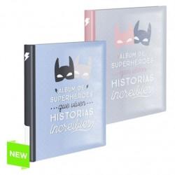 """Album de fotos adhesivo juvenil 20 pag """"HEROES"""""""