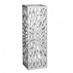 Paragüero 2/c metal 15,50 x 15,50 x 49 cm blanco y gris.
