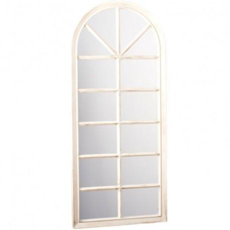Espejo de pared en forma de ventana crema decorado