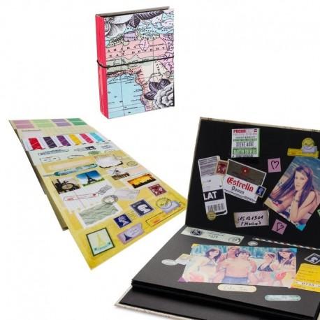 Album fotos scrapbook con stickers DIY .