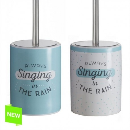 """Escobillero moderno inglés """"SINGING""""de cerámica para cuarto de baño"""