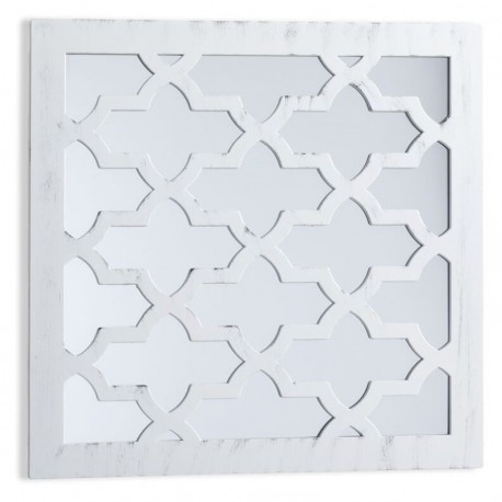 Espejo de pared decoración plastico blanco 40 x 40 cm