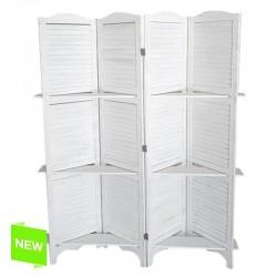 Biombo estanteria de madera 4 paneles 40x170 cm .