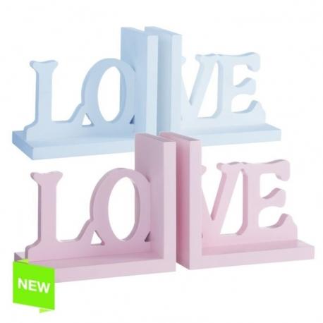 """Sujetalibros frase """"love"""" 2/c"""