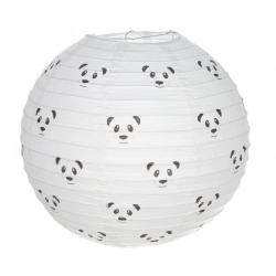 Pantalla papel para lampara de techo infantil panda .