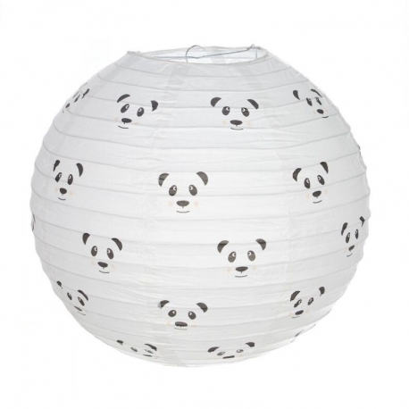 Pantalla papel para lampara de techo infantil panda - Lamparas de techo de papel ...