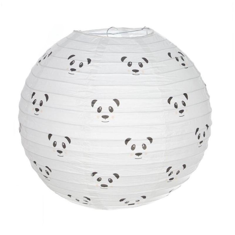 Pantalla papel para lampara de techo infantil panda - Lampara infantil techo ...