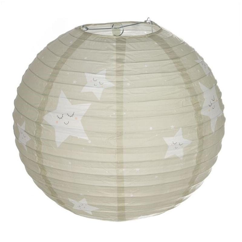 Pantalla papel para lampara de techo infantil estrella - Lampara de techo infantil ...