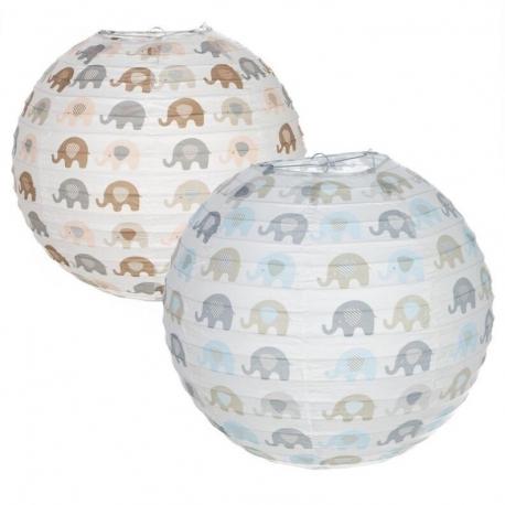 pack pantalla papel para lampara de techo infantil elefantes