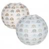 Pack 2 Pantalla papel para lampara de techo infantil elefantes .