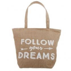 "Bolso yute diseño """"FOLLOW YOUR DREAMS"""""