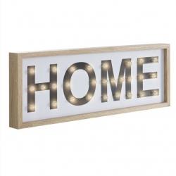 Cuadro leds diseño HOME Medida: 22X5X62,5 CM