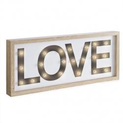 Cuadro leds diseño LOVE Medida: 22X5X57 CM