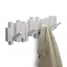 Perchero decorativo de pared Sticks gris