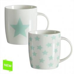 Mug estrellas mint (Set de 2 mug )