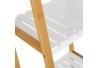 Estantería de 4 baldas nórdica blanca de bambú para baño Basic .