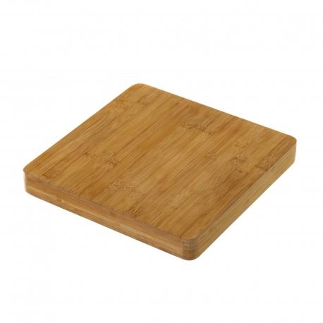 Tabla para cortar bambú 28 x 28 x 3 cm .