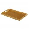 Bandeja cama bambú natural 58 x 38 x 6 cm .