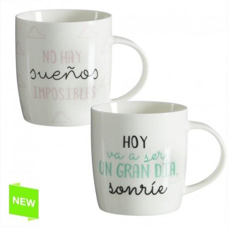 Mug frases positivas (Set de 2 mug )
