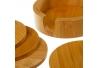 Posavasos bambu con soporte 11x11x3 cm