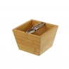 Caja cascanueces nórdica marrón de bambú para cocina Basic