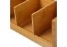 Caja de infusiones nórdica marrón de bambú para cocina Basic