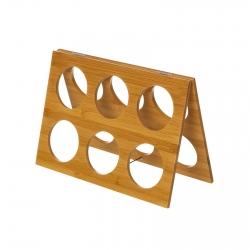 Botellero plegable bambú 30 x 20 x 24 cm .
