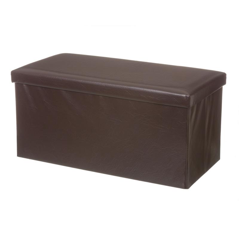 puf arc n doble chocolate polipiel 80 x 40 x 40 cm. Black Bedroom Furniture Sets. Home Design Ideas