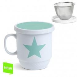 Taza con filtro estrella mint