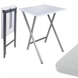Mesa cuadrado plegable blanca 48x48x65 cm