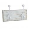 Perchero de pared madera 2 ganchos Medida: 28X7,5X12 CM