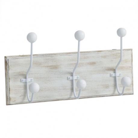 Perchero de pared madera 3 ganchos Medida: 34X7,5X12 CM